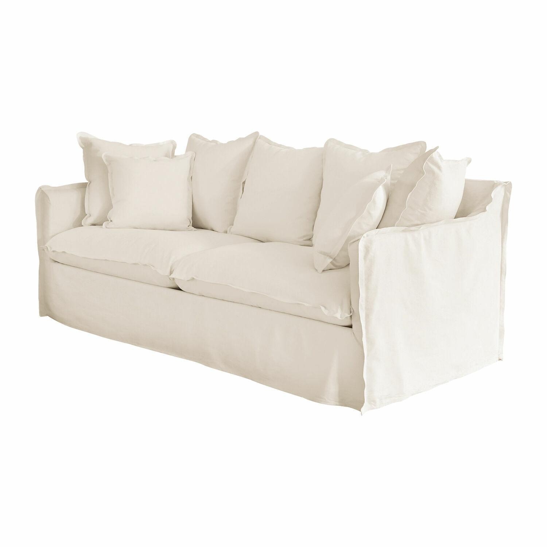 LOBERON Sofa Tienen, weiß (95 x 210 x 80cm)