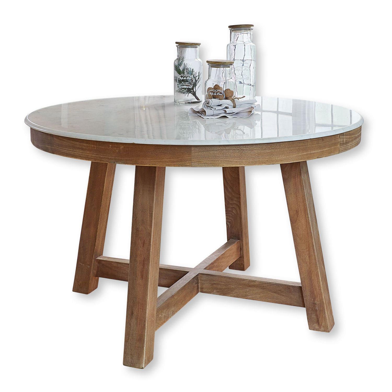 LOBERON Tisch Mistral, braun/weiß (76cm)