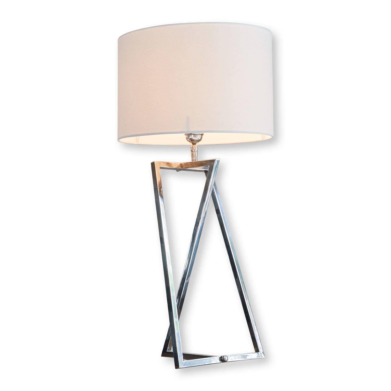 LOBERON Tischlampe Miltery, weiß/silber (81cm)