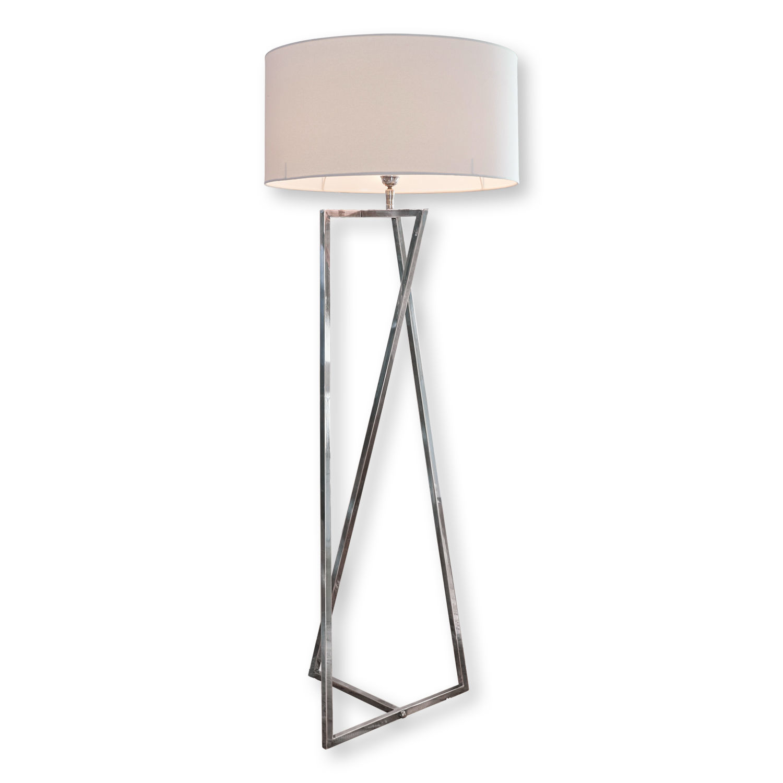 LOBERON Stehlampe Miltery, weiß/silber (163cm)