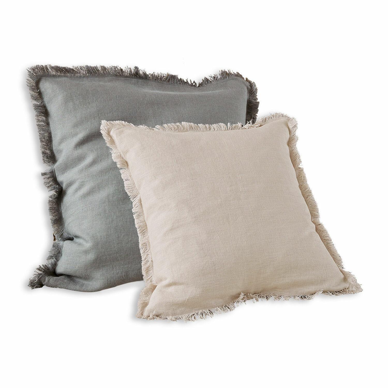 LOBERON Kissenhülle 2er Set Quebo, grau/beige (50 x 50cm)