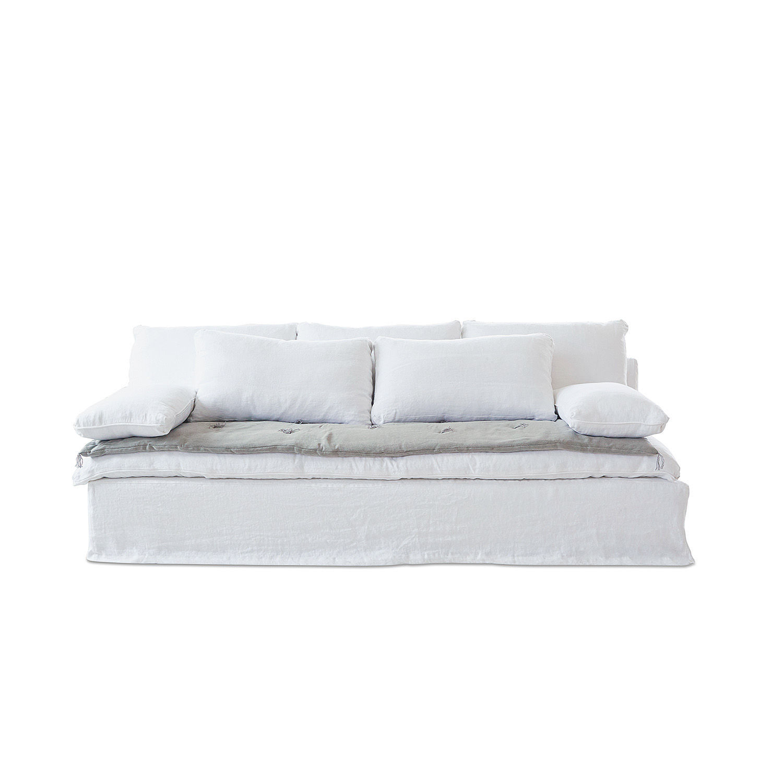 LOBERON Sofa Hamleigh, weiß (100 x 230 x 80cm)