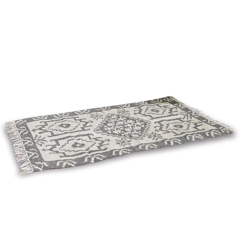 LOBERON In- & Outdoor-Teppich Bordelon, grau/beige (70 x 140cm)