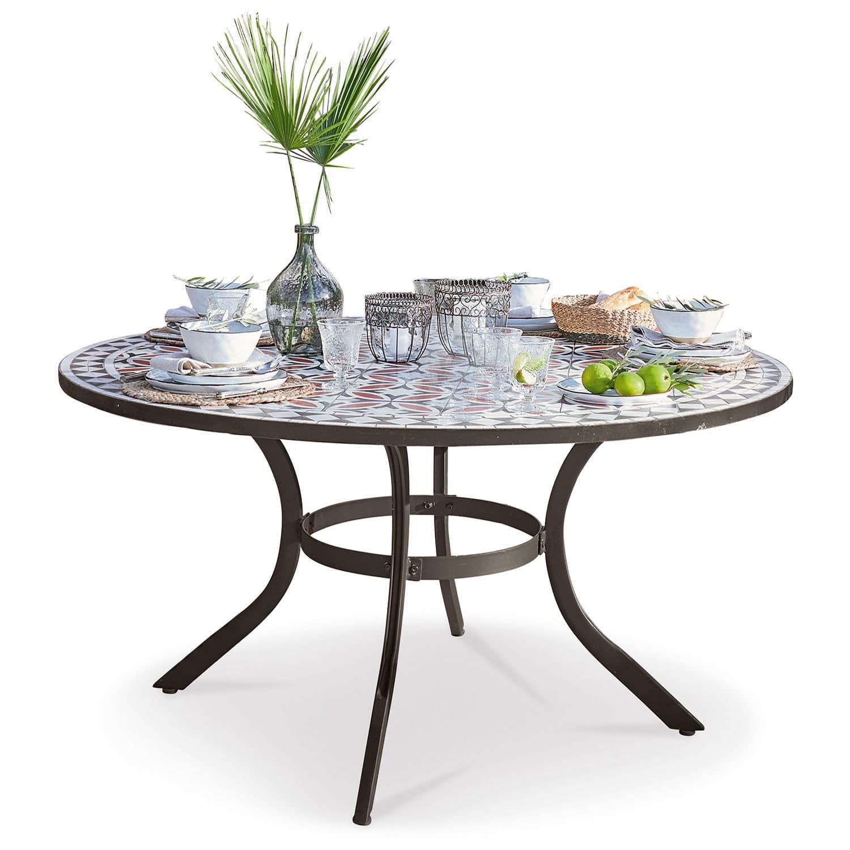 LOBERON Tisch Lesauvage, schwarz/bunt (75cm)