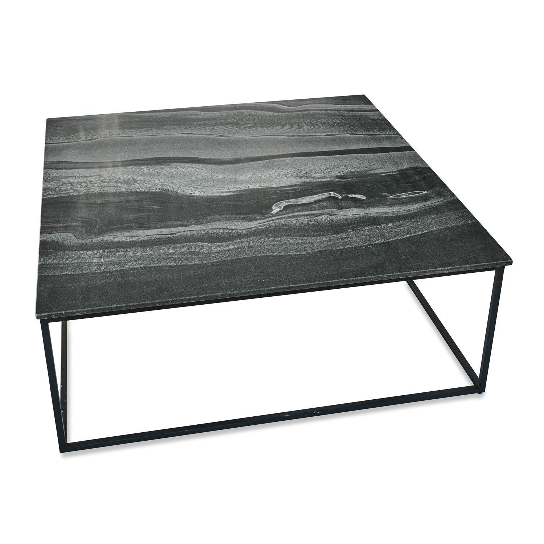 LOBERON Couchtisch Gillaume, schwarz (100 x 100 x 36cm)