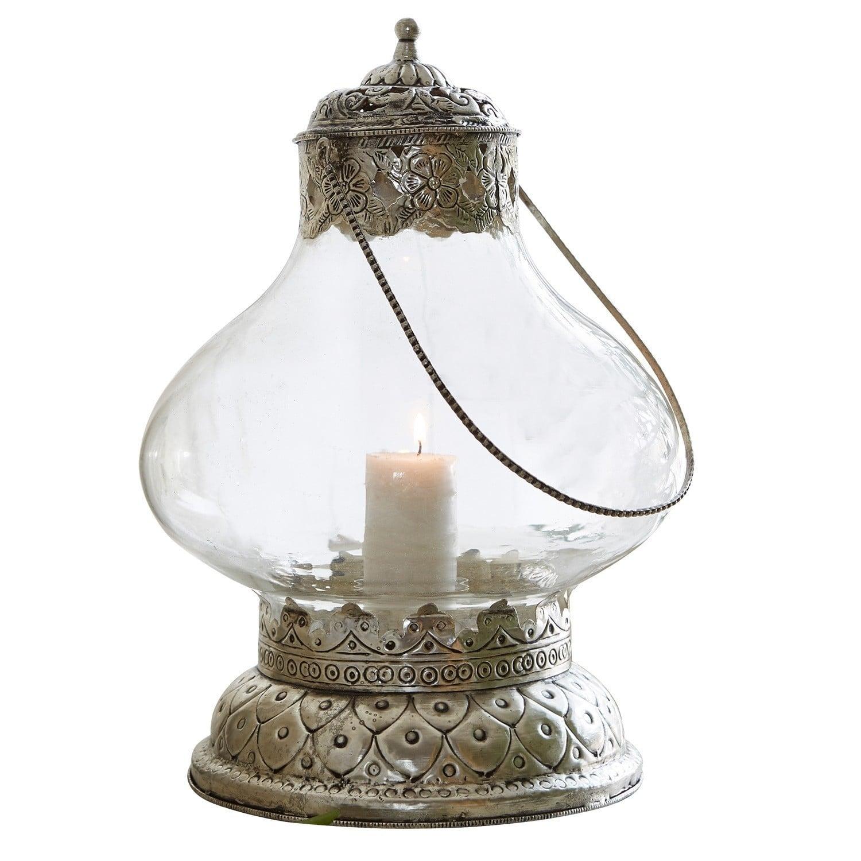 """Laterne """"Nestier"""" aus Glas und Eisen, transparent (Kopie) Loberon (Kopie)"""
