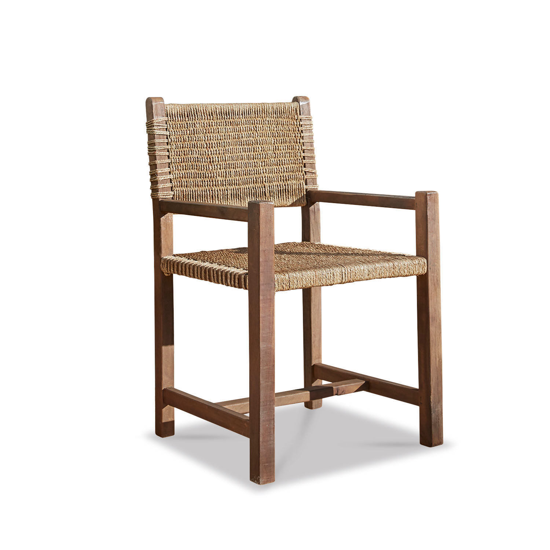 LOBERON Stuhl mit Armlehne Owensen, antikbarun (54 x 55 x 88cm)