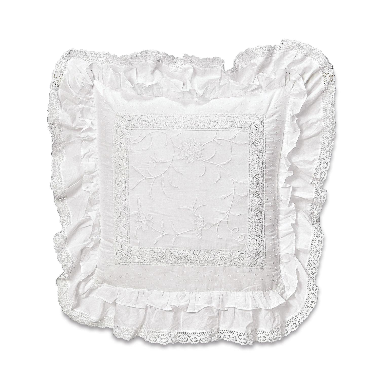 LOBERON Kissen Marbury, weiß (50 x 50cm)