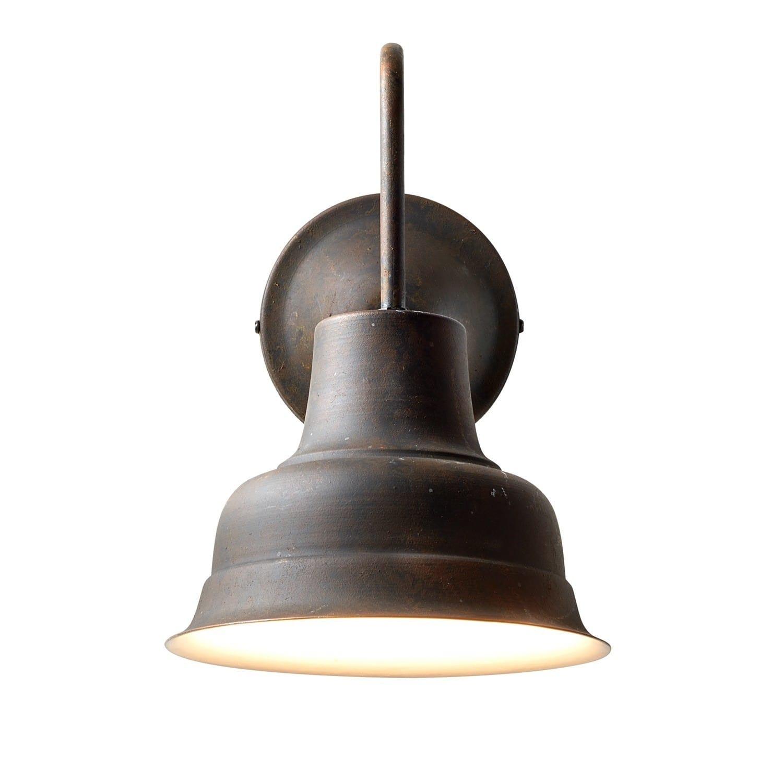 LOBERON Wandlampe Sidney, braun/weiß (28 x 20 x 30cm)
