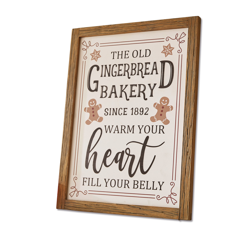 LOBERON Dekoboard Bakery, weiß/braun (2.1 x 30 x 40cm)