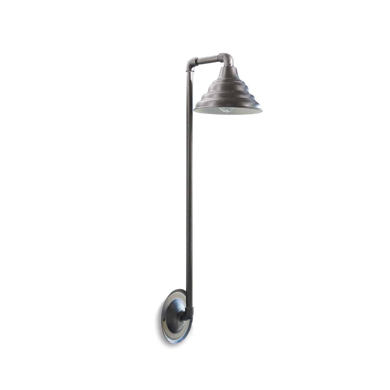 LOBERON Wandlampe Whitley, dunkelgrau (20 x 25 x 88cm)