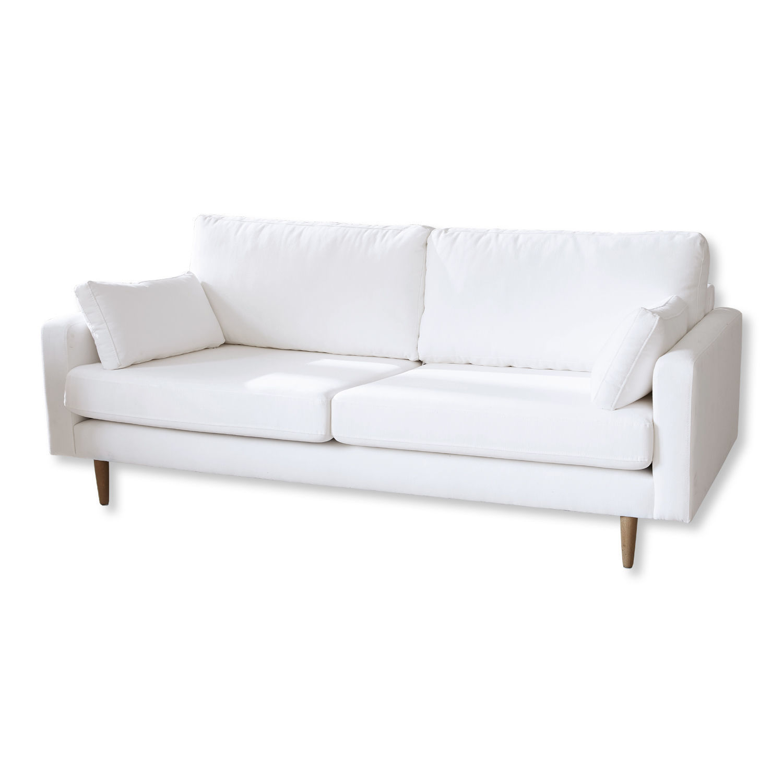 LOBERON Sofa Loria, weiß (93 x 201 x 86cm)
