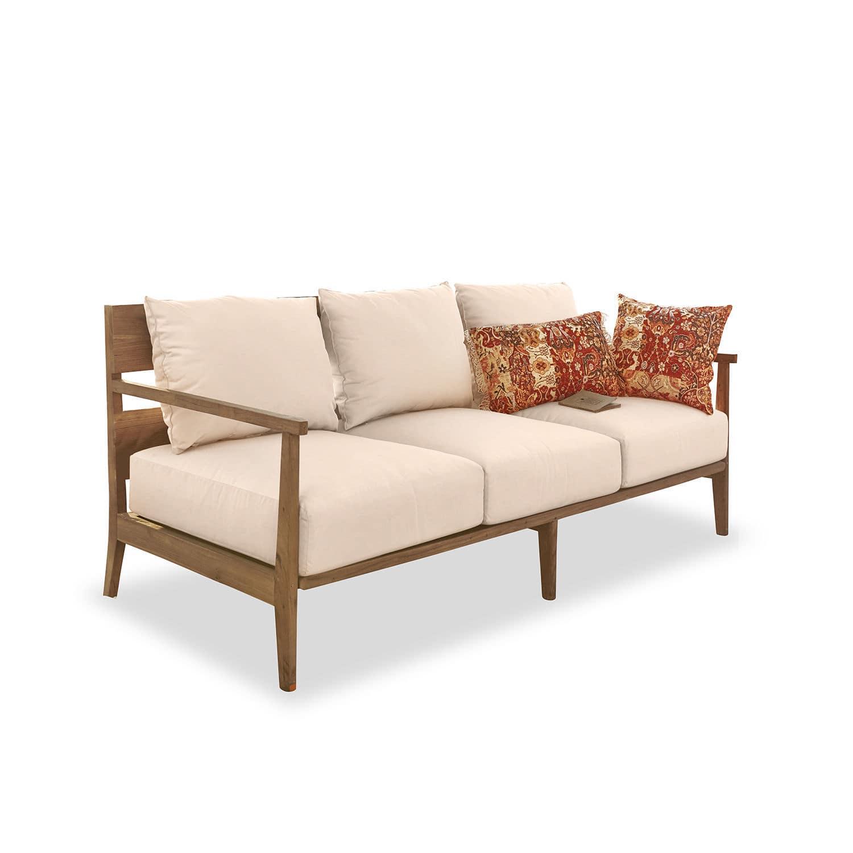 LOBERON Sofa Kingsbridge, antikbraun/creme (80 x 180 x 80cm)