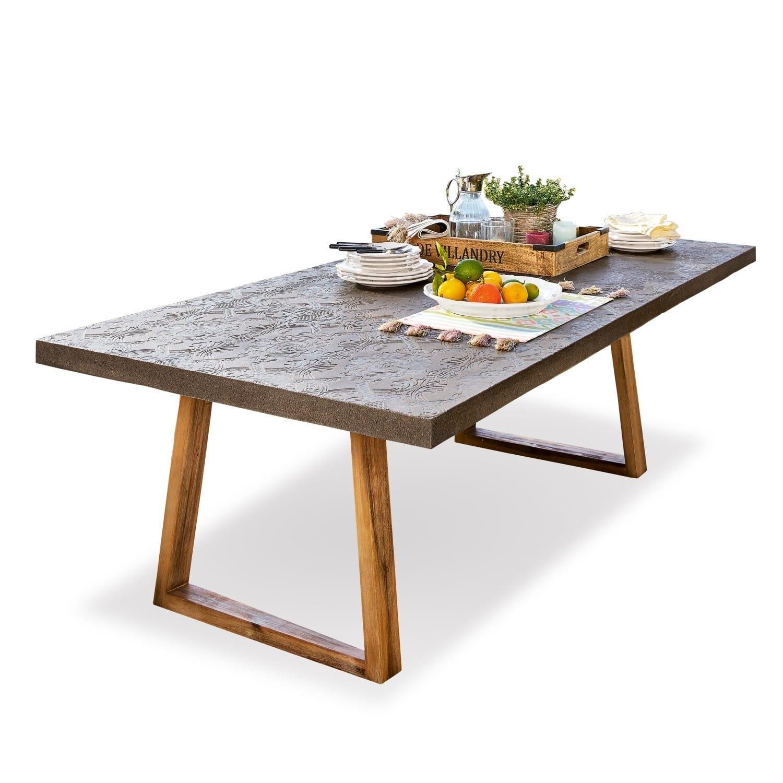 LOBERON Tisch Ioan, grau/braun (100 x 200 x 76cm)