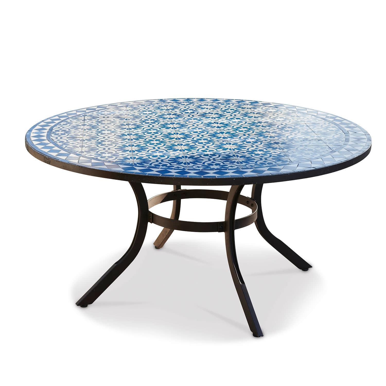 LOBERON Tisch Jennarton, blau (75cm)