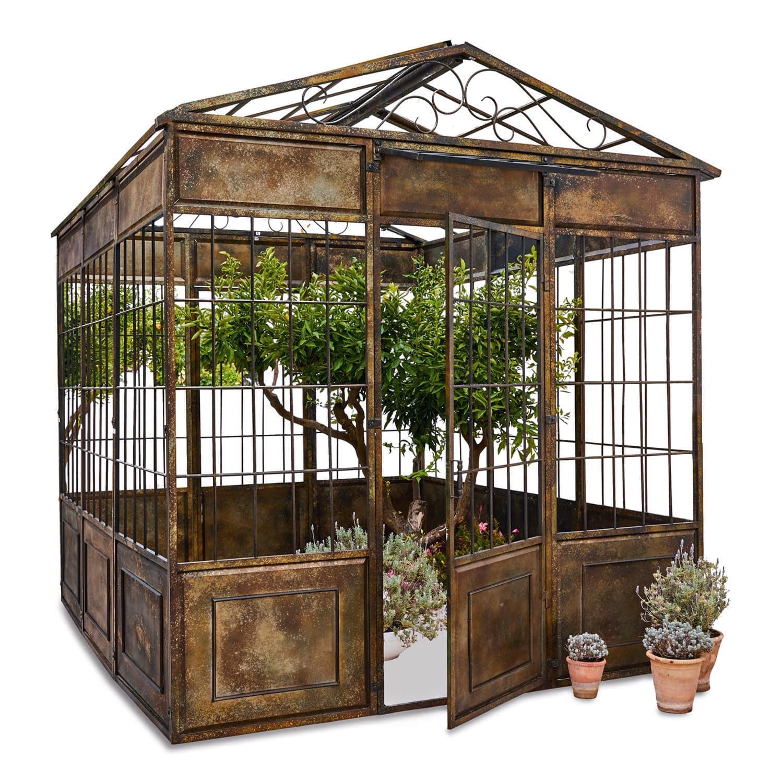 """*NEU*: Gartenpavillon """"Essone"""" aus Eisen, antikbraun"""