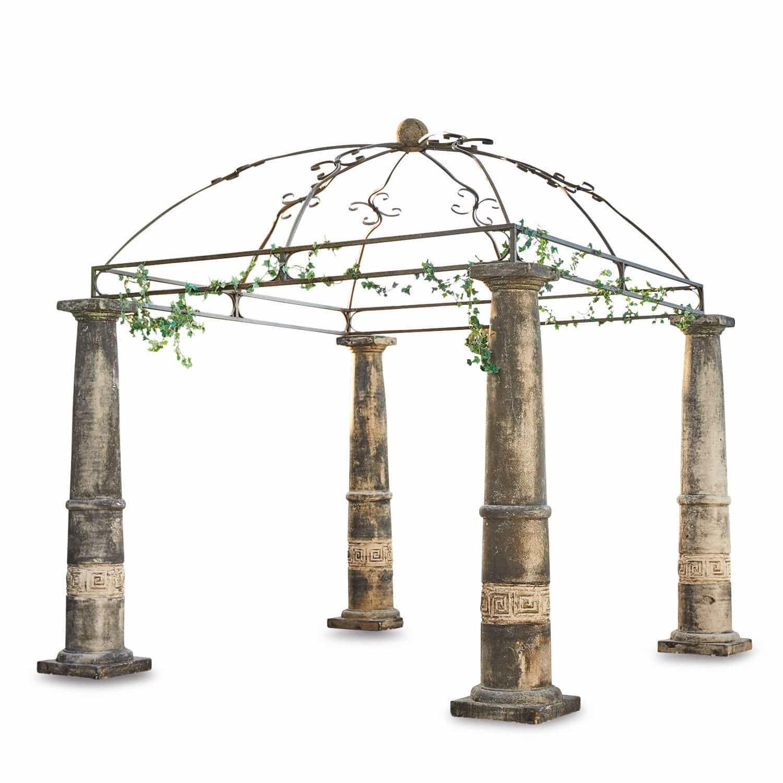 """*NEU*: Gartenpavillon """"Marlow"""" aus Steingemisch, braun"""